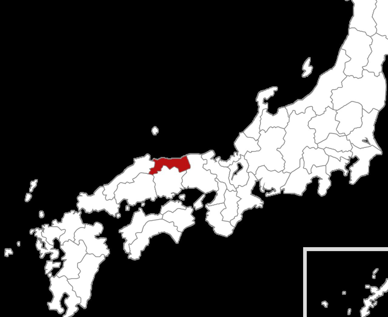 鳥取県のイラスト地図