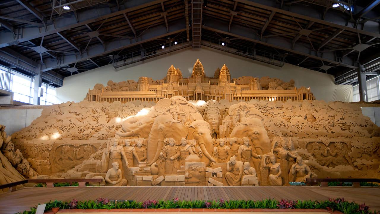 砂像彫刻家の作品