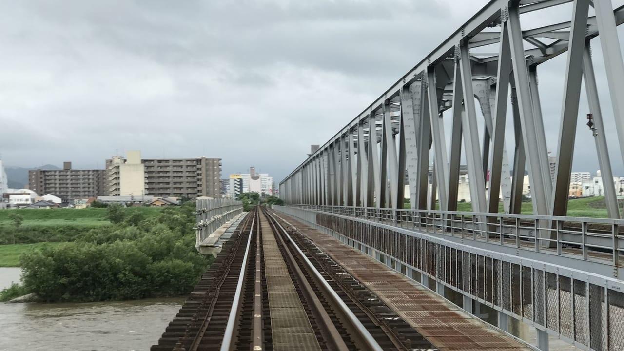 鳥取市古海の線路